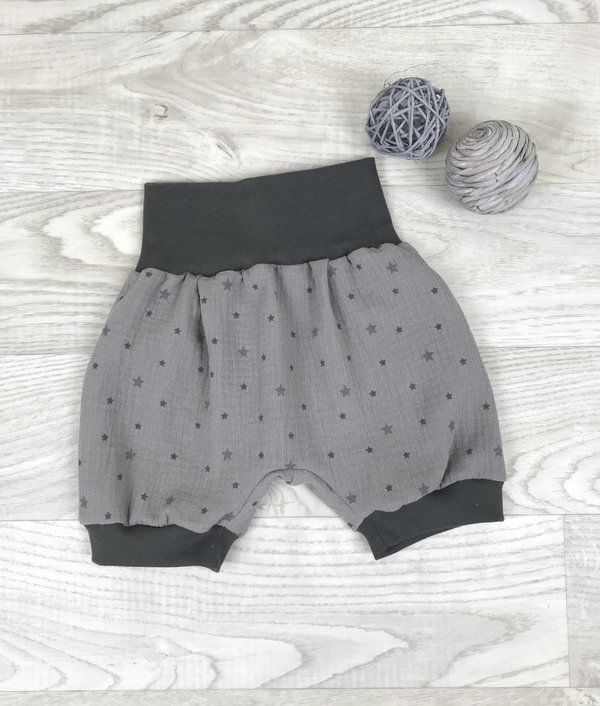 Pumpshorts Musselin taupe